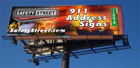 911 Address Billboard Sign